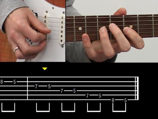 1ere position gamme pentatonique mineure, tonalité La mineur